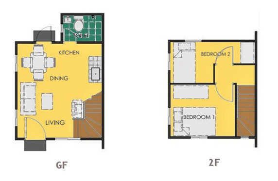 Ravena Floor Plan House and Lot in Cavite
