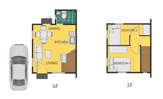 Reva Floor Plan House and Lot in Cavite