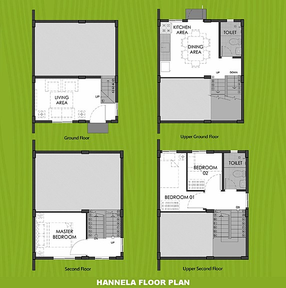Hannela Floor Plan House and Lot in Cavite