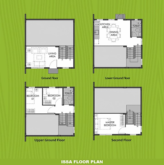 Issa Floor Plan House and Lot in Cavite