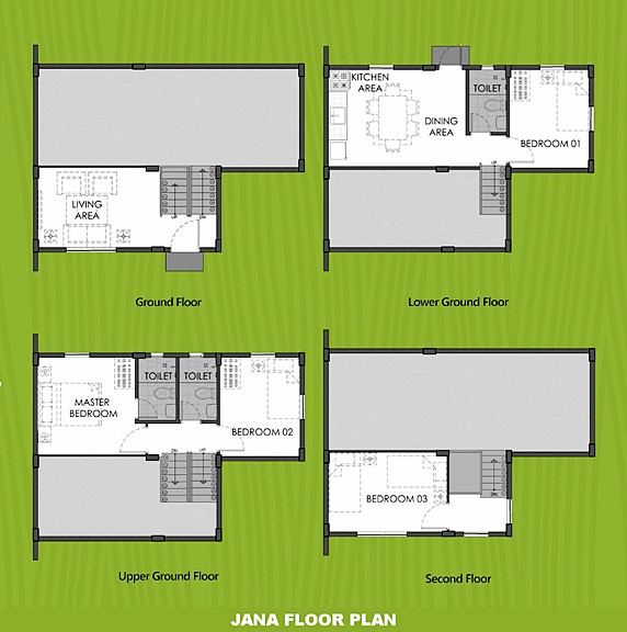 Janna Floor Plan House and Lot in Cavite