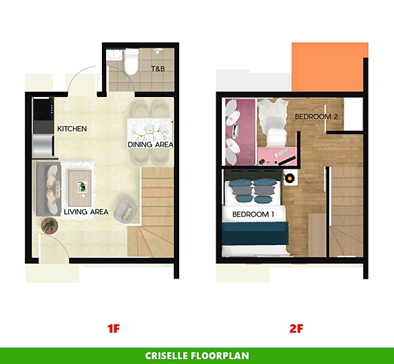 Criselle Floor Plan House and Lot in Cavite