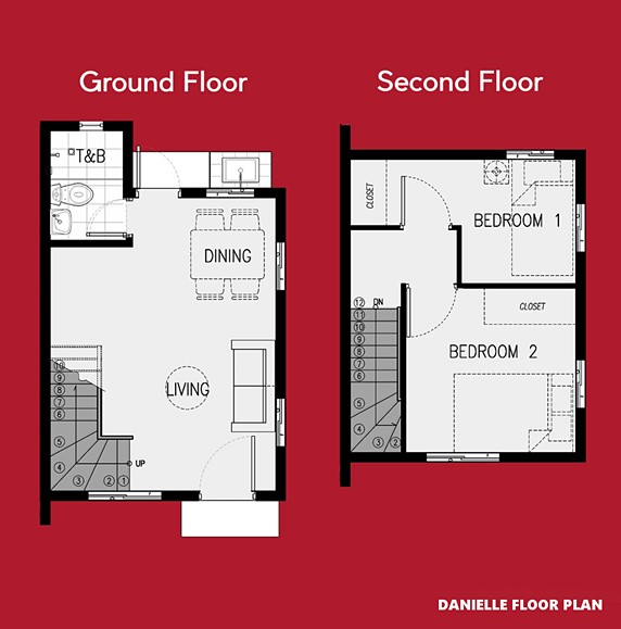 Danielle Floor Plan House and Lot in Cavite