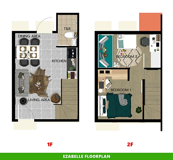 Ezabelle Floor Plan House and Lot in Cavite